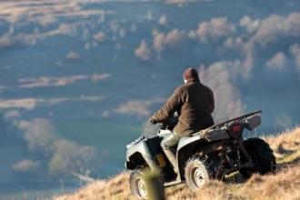 Farmer on a four wheel/trike, © Stuart Petch
